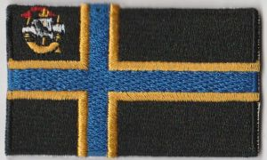 Caithness Embroidered Flag Patch, style 04